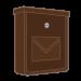 Hnědé poštovní schránky