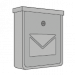 Stříbrné a nerezové poštovní schránky