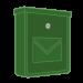 Zelené poštovní schránky
